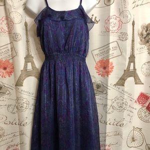 Express Navy Blue Maxi Dress